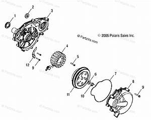 Polaris Side By Side 2012 Oem Parts Diagram For Engine  Stator  Flywheel All Options