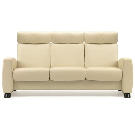 High Back Reclining Sofa by Stressless Arion 19 A10 Contemporary High Back Reclining