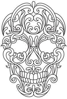 printable leather tooling patterns leather skull