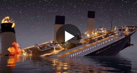 titanic sinking animation real time haunting animation shows how the titanic sunk