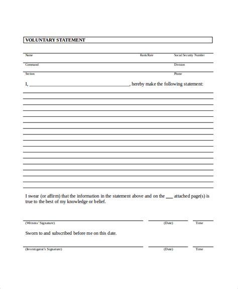 witness statement template statement template 11 free word pdf document downloads free premium templates