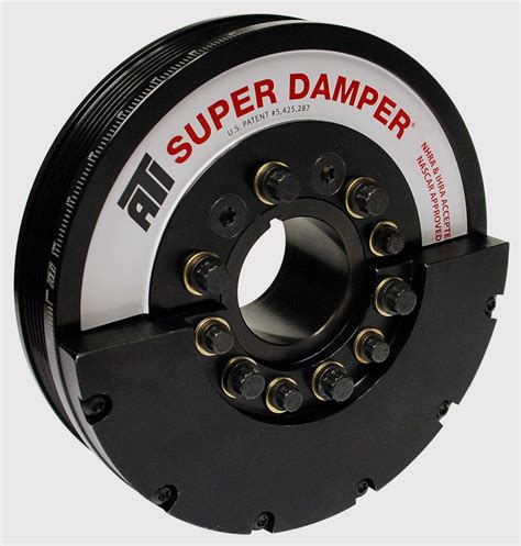 ati harmonic balancer damper crank pulley   chevy