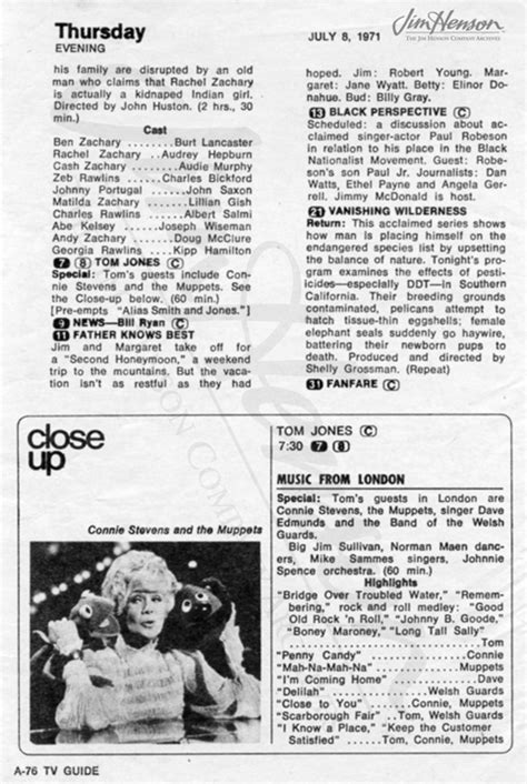 2/4-15/1971 – 'In London for Tom Jones Show. Jane over for