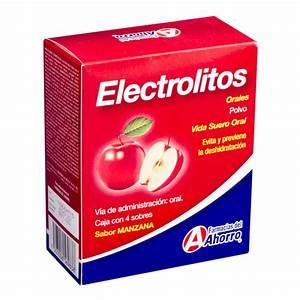 Electrolitos Orales Manzana 4 Sobres