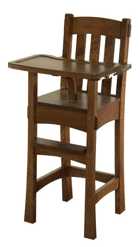 modesto wooden high chair  dutchcrafters amish furniture