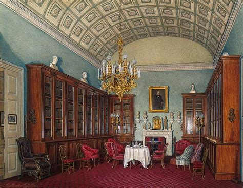 interiors   winter palace  library  emperor