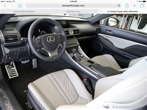 rcf need opinion on interior for 2 0 clublexus
