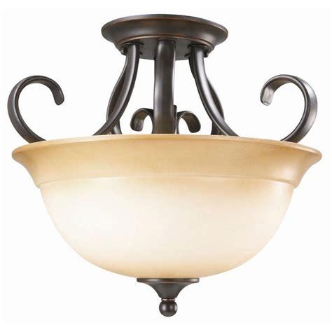 home depot flush mount ceiling light fixtures design house cameron 2 light oil rubbed bronze semi flush