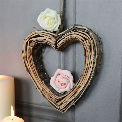 Check out our heart wall hanging selection for the very best in unique or custom, handmade pieces from our wall décor shops. Birch Wood Hanging Heart Decoration