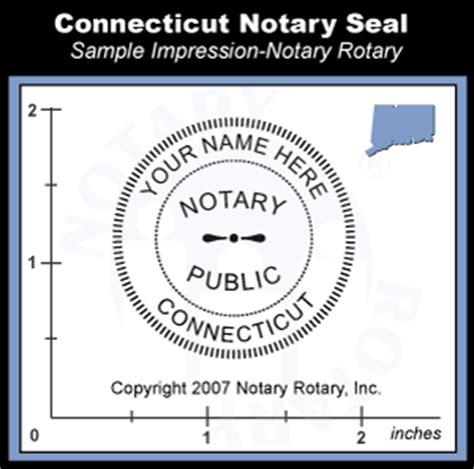 connecticut notary seal embosser