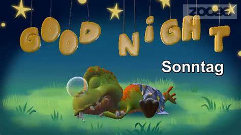 tyranni gute nacht good night sonntag abend zoobe deutsch