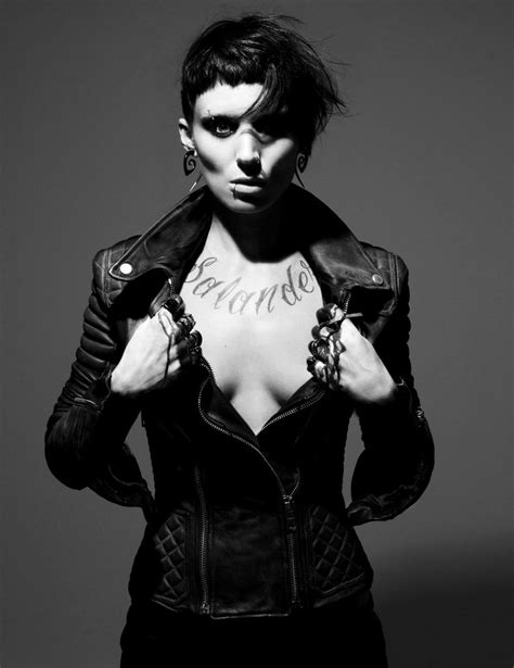 the girl with the dragon tattoo lisbeth salander rooney mara -this movie was amazing. | Rooney