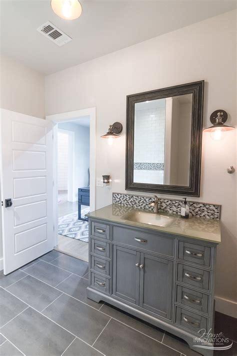 custom home builder tulsa  bathroom  gray