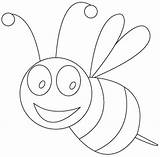 Bee Coloring Drawing Bees Sheet Preschool Printable Sheets Insects Kindergarten Drawings Preschoolcrafts Crafts Honey Animals Colouring Hard Flower Childrens Education sketch template
