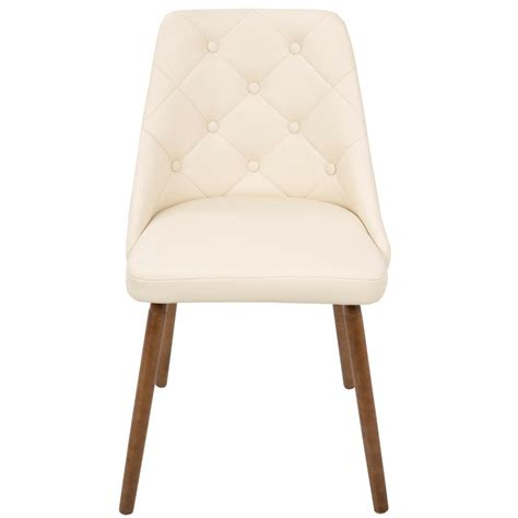 30852 dining chair cushion contemporary lumisource mid century modern button tufted