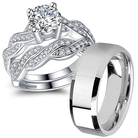 sterling silver cz infinity wedding engagement