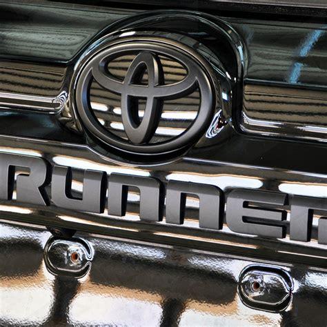 toyota 4runner lifted 2010 2018 toyota 4runner emblem overlay black out kit