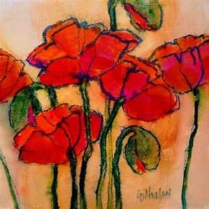 Poppy Sketch Painting by Carol Nelson