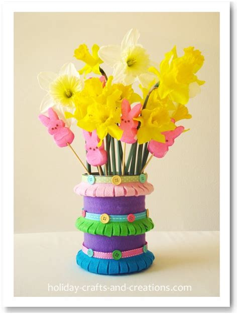 pretty spring vases   felt fun family crafts
