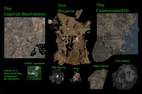 Fallout New Vegas Lonesome Road Wallpaper Fallout Open World Map Size Comparison With Measurements Fallout