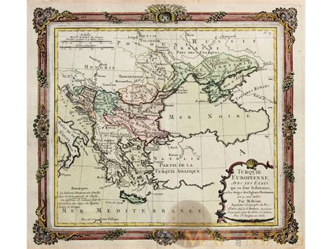 Ottoman Europe by Turque Europeenne Ottoman Empire Map Desnos 1766