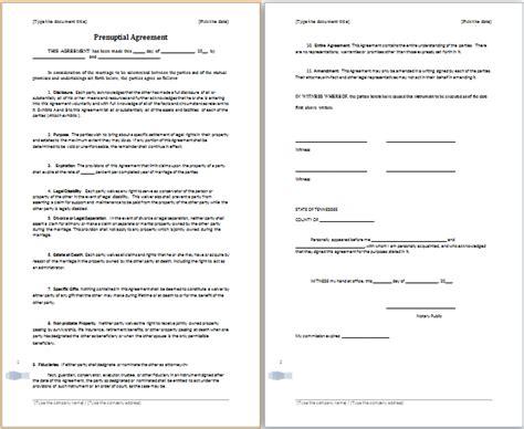 prenuptial agreement ms word prenuptial agreement template free agreement