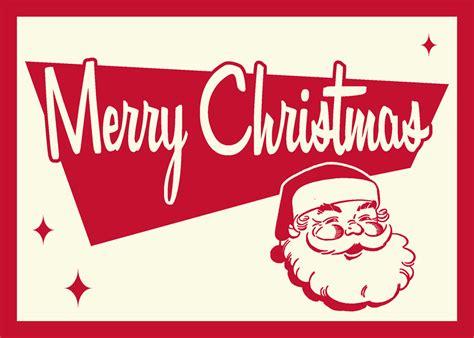 retro christmas card santa by 66robert