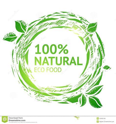cuisine eco eco food grunge label stock vector image 42450149