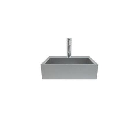 wall hung stainless steel sinks filament design cantrio wall hung bathroom sink in
