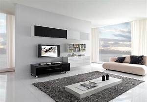 17 inspiring wonderful black and white contemporary for Modern decoration living room ideas