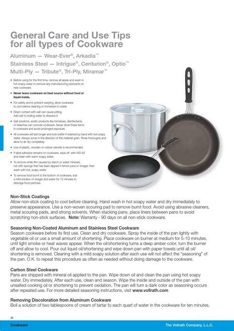 cookware types material vollrath gastro katalog issuu premium