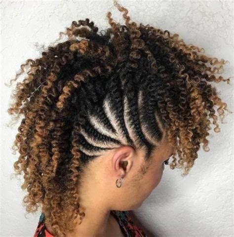Braided And Curled Hairstyles by Mohawk Hairstyles Braids With Sides