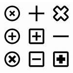 Icon Plus Minus Icons Remove Vector Button