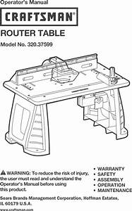 Craftsman 32037599 User Manual Router Table Manuals And