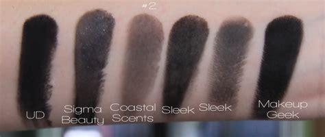 black eye shadow urban decay sigma beauty makeup