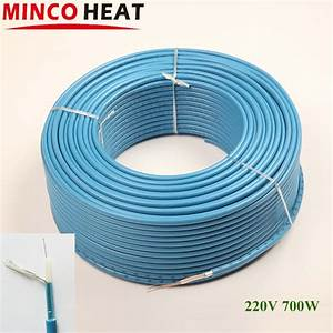 Aliexpress Com   Buy 700w 18 5w  M Blue Heating Cable Radiant Floor Electric Heating Air Cables