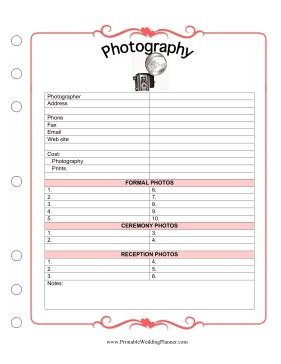 wedding planner and organizer photography