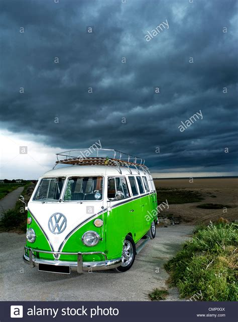 volkswagen van hippie blue vw bus beach stock photos vw bus beach stock images alamy