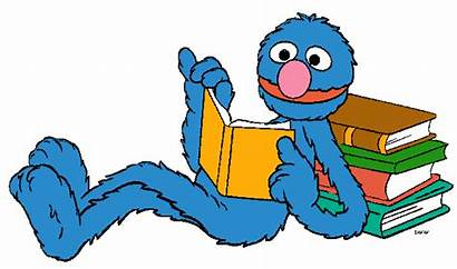 Sesame Street Clipart Character Elmo Bird Reading