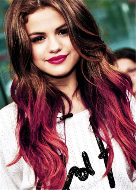 cool celebrity hairstyles  red highlights hair world
