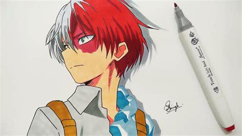 drawing shoto todoroki boku  hero academia
