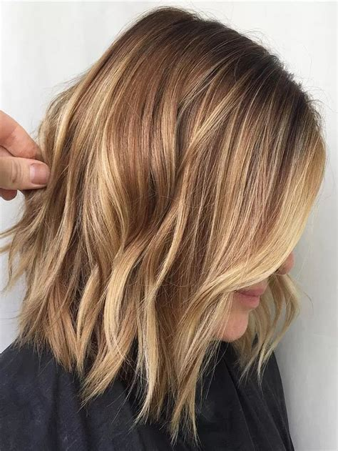 Light Brown Color Hairstyles by Light Brown Color With Caramel Medium Length Hairstyle