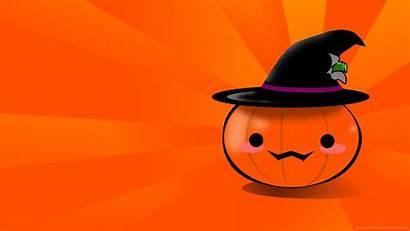 Pumpkin Halloween Backgrounds Wallpapers Desktop Pumpkins Kawaii
