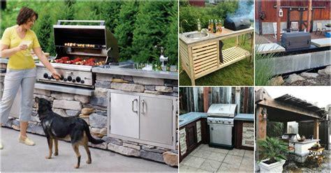 amazing diy outdoor kitchen plans   build   budget diy crafts