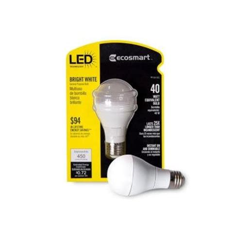 sincerely recommended ecosmart a19 6 watt 40w bright