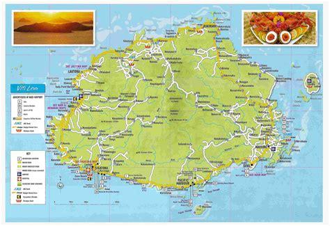 large detailed tourist map  viti levu fiji viti levu
