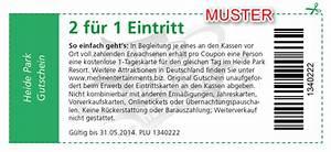 2 Für 1 Gutschein : heidepark 2 f r 1 gutschein zum ausdrucken 2014 ~ Markanthonyermac.com Haus und Dekorationen