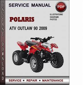 Polaris Atv Outlaw 90 2009 Factory Service Repair Manual Download P