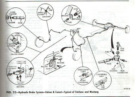 front rear brake diagrams  man   mustang