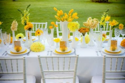 deco mariage jaune  rouge